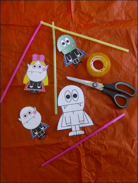 halloween bricolage enfant fabrication marionnette marotte fabriquer faire spectacle maternelle. Black Bedroom Furniture Sets. Home Design Ideas