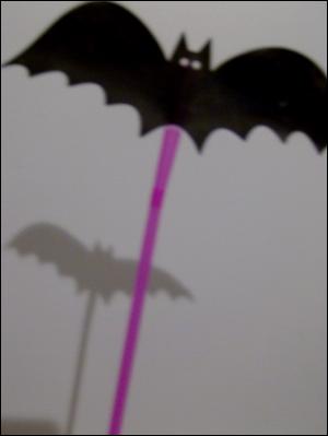 Halloween jeu d'ombre marionnette jeu de lumière Halloween marotte marionnettes marottes
