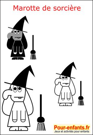 Halloween bricolage enfant fabrication marionnette - Jeux de sorciere potion magique gratuit ...