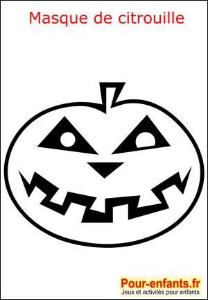 halloween coloriage masque citrouille enfant fabrication. Black Bedroom Furniture Sets. Home Design Ideas
