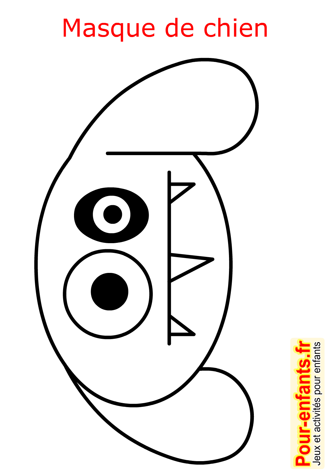 Halloween Coloriage Masque Chien Enfant Fabrication Masques De Picture To Pin On Pinterest