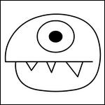 Halloween coloriage masque enfant monstre fabrication spectacle imprimer masques monstres de - Dessin monstre facile ...