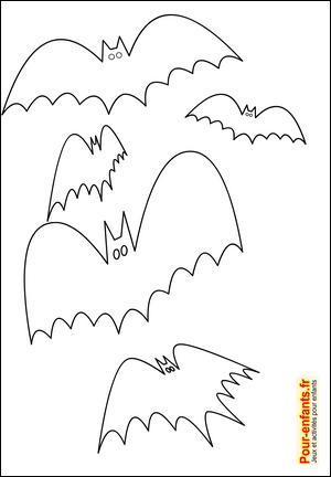 Halloween bricolage enfant silhouette chauve-souris forme ...