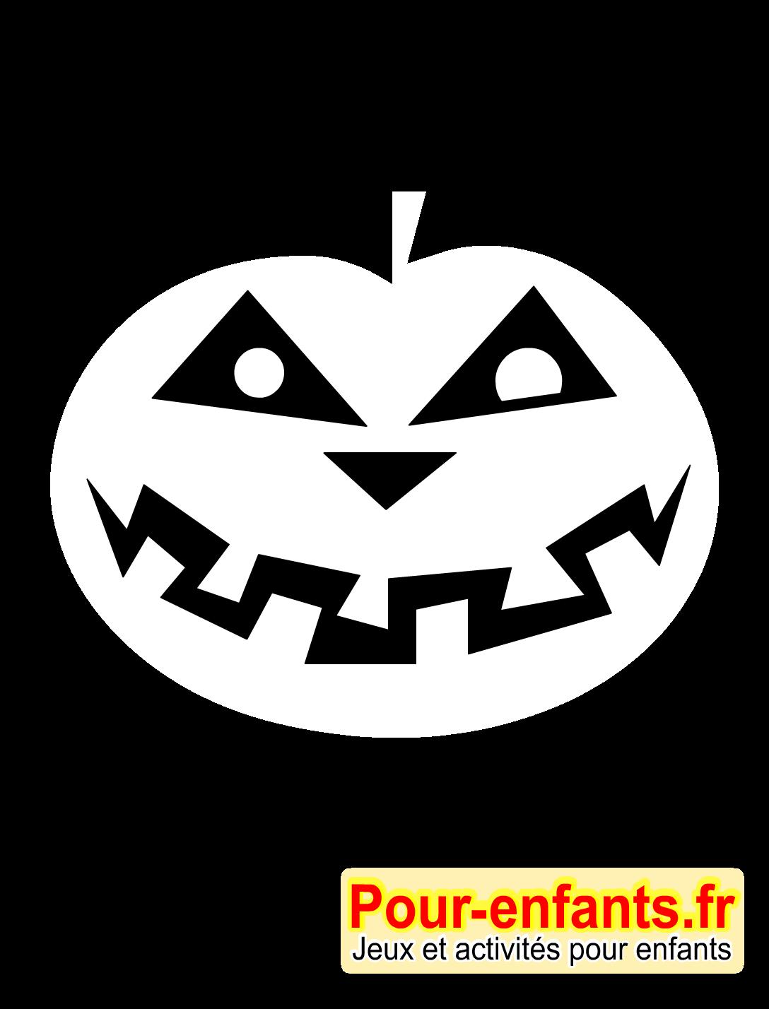 halloween bricolage enfant silhouette citrouille forme. Black Bedroom Furniture Sets. Home Design Ideas