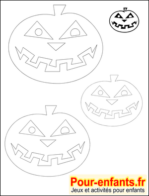 Halloween bricolage enfant silhouette citrouille forme for Gabarit halloween