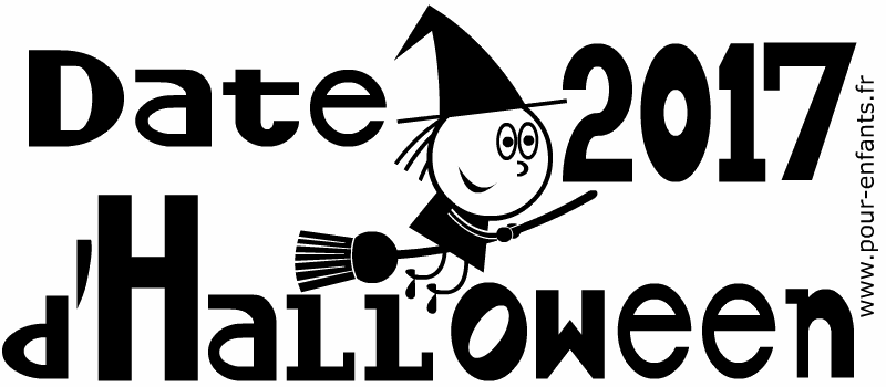 Date d'Halloween 2017. C'est quand Halloween 2017 ? Dessin à imprimer.