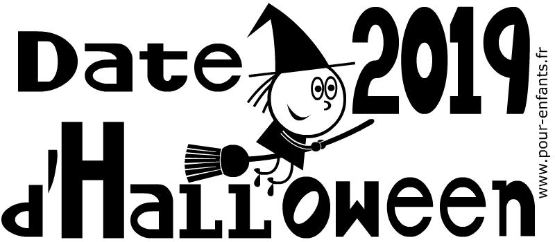 Date Halloween 2019 Dessin à imprimer