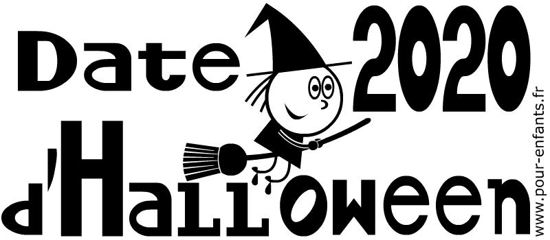 Date d'Halloween 2020. Dessins à imprimer.