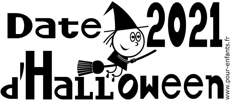 Date d'Halloween 2021. Dessins à imprimer.