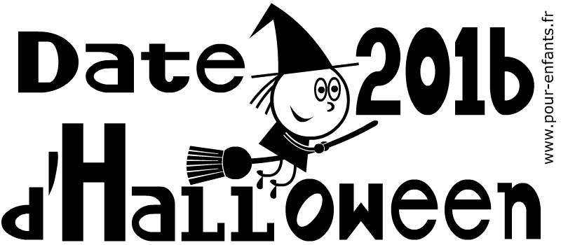 Date Halloween 2016 Dessin à imprimer