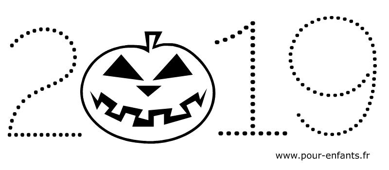Halloween 2019 à imprimer pour faire un coloriage avec des enfants