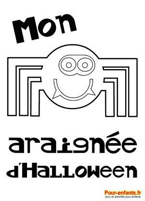 Halloween Coloriage araignée à imprimer dessin araignee rigolote