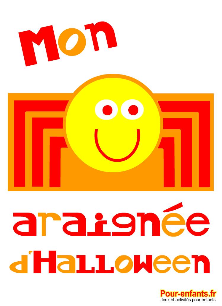 Dessins d'araignées à imprimer pour Halloween enfants.