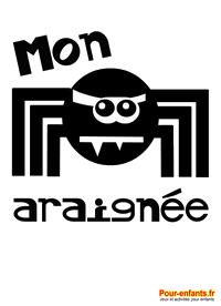 HALLOWEEN Dessin d'araignée à imprimer gratuit