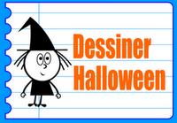 apprendre a dessiner Halloween - dessins Halloween - dessiner une sorcière dessiner la lune