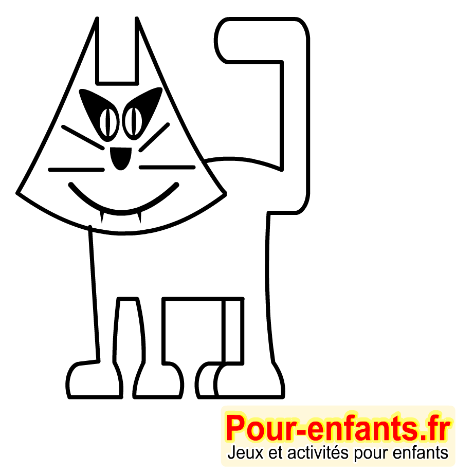 Dessins de chats imprimer dessin coloriages de chats halloween dessiner chats - Jeux de coloriage de chat ...