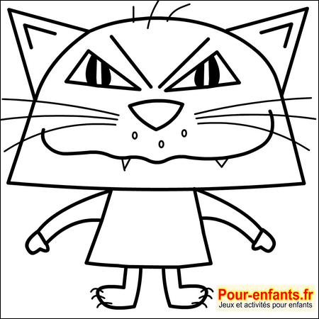 Dessins de chats imprimer dessin coloriage de chat halloween dessiner chats - Tete de chat a colorier ...