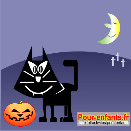 Images chats halloween - Dessin chat halloween ...