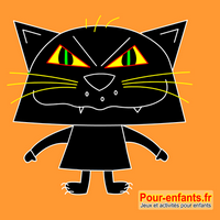 Dessiner Halloween : dessin de chat