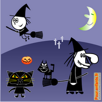 Dessiner Halloween : dessin de chats