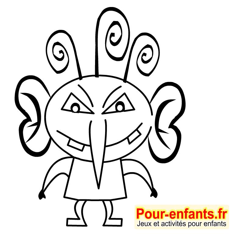 Berühmt Dessins monstres dessin coloriage monstre Halloween dessiner monstres NW02