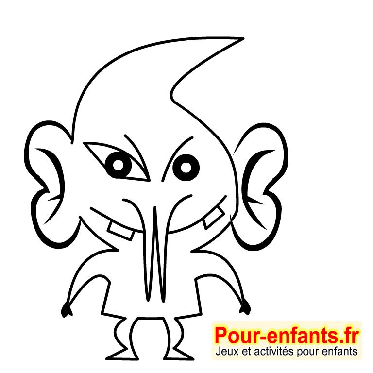 Imprimer un dessin de monstre - Dessin monstre halloween ...