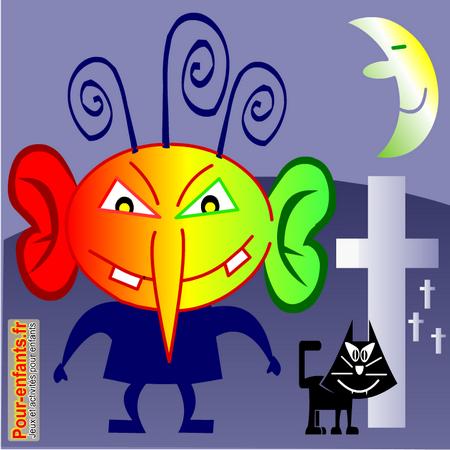Dessins de monstres dessin monstre halloween dessiner - Dessin monstre halloween ...