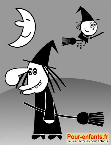 dessins de sorci res dessin de sorciere halloween dessiner. Black Bedroom Furniture Sets. Home Design Ideas