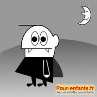 Jeux de puzzle Halloween dessin de vampire