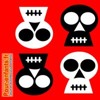 Dessiner Halloween : dessin de tête de mort