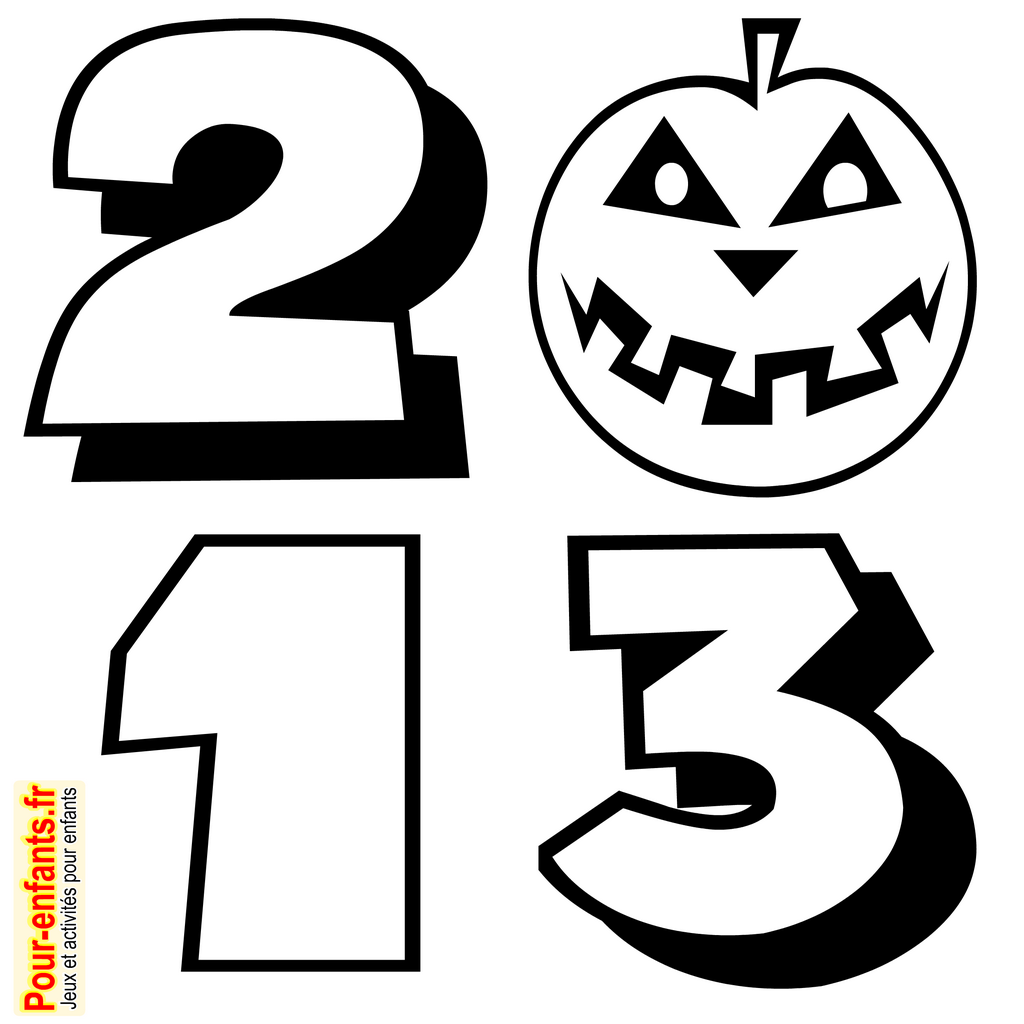 halloween 2013 dessin imprimer date dessins citrouilles coloriage mprimable gratuitement. Black Bedroom Furniture Sets. Home Design Ideas