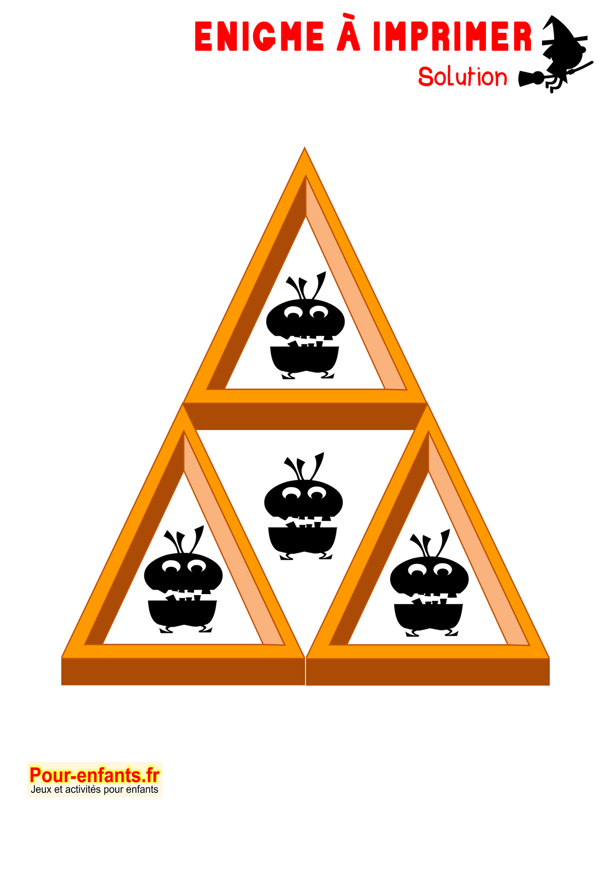 Célèbre Enigme Jeu à imprimer Halloween énigmes faciles solution jeu  EV23