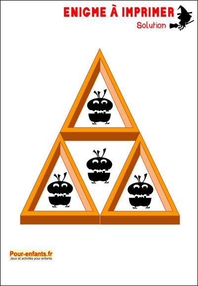 Très Enigme Jeu à imprimer Halloween énigmes faciles solution jeu  MI15