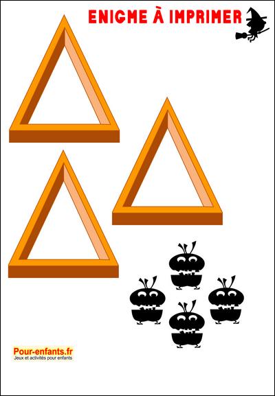 Favori Enigmes Jeux à imprimer Halloween énigme facile jeu imprimable  QS12