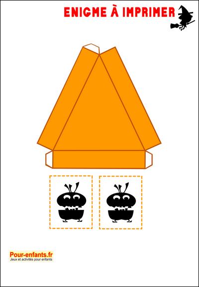 Préférence Enigmes idées activités Jeux à imprimer Halloween bricolage énigme  BJ81