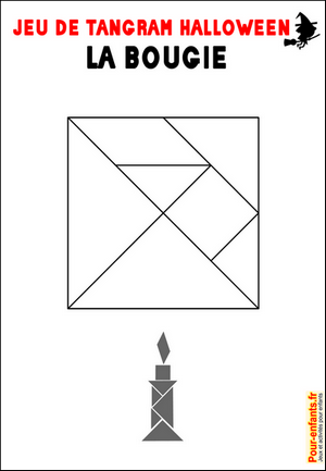 Jeux de tangram à imprimer jeu tangram bougie