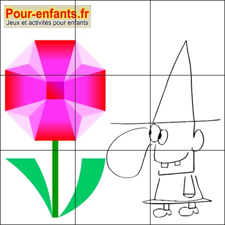 Jeux halloween jeux de puzzle sorcier imprimer jeu - Puzzle dessin ...