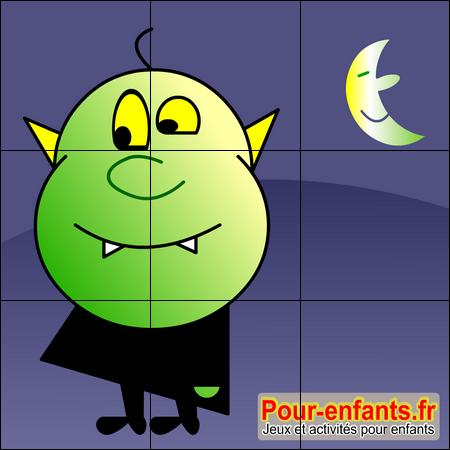 Jeux halloween jeux de puzzle vampire b b imprimer jeu - Puzzle dessin ...