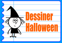 Dessiner Halloween apprendre à puzzles sorcières lunes monstres vampires chats têtes de morts