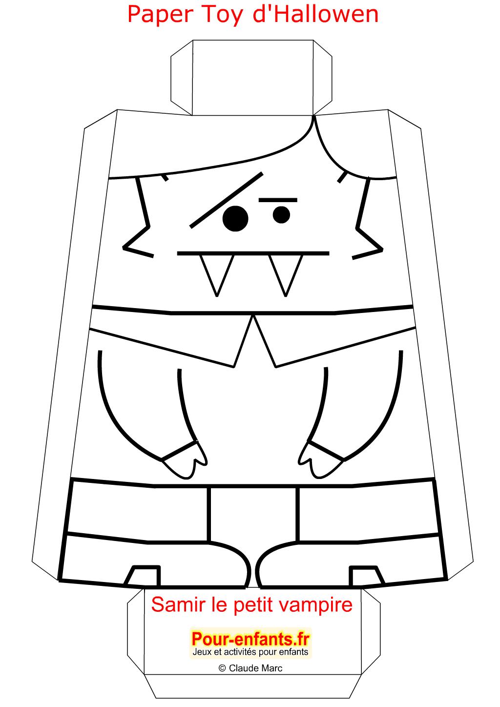 Paper Toy Halloween Vampire A Imprimer Gratuit Jouet En