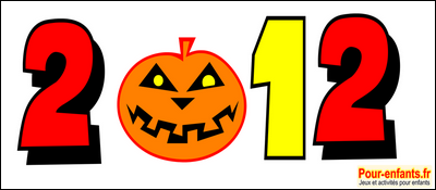 Halloween 2012 dessin date à imprimer Gratuit citrouille dates imprimable gratuitement